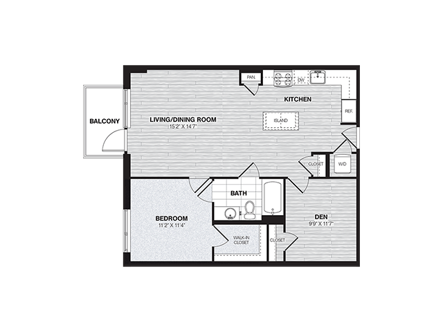 AD2 | 1 bed 1 bath | from 854 square feet