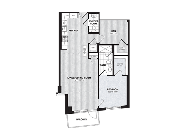AD4 | 1 bed 2 bath | from 966 square feet