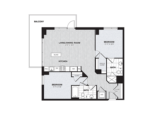 B2 | 2 bed 2 bath | from 1046 square feet
