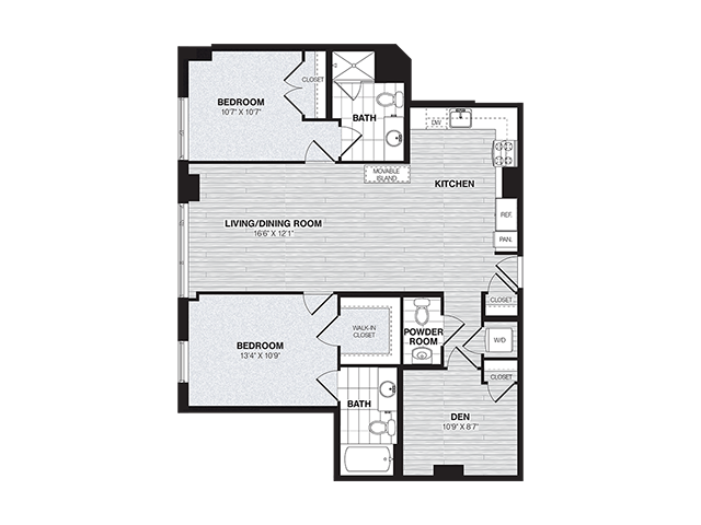 BD1 | 2 bed 3 bath | from 1139 square feet