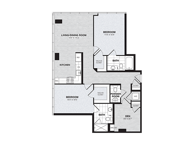 BD2 | 2 bed 3 bath | from 1183 square feet