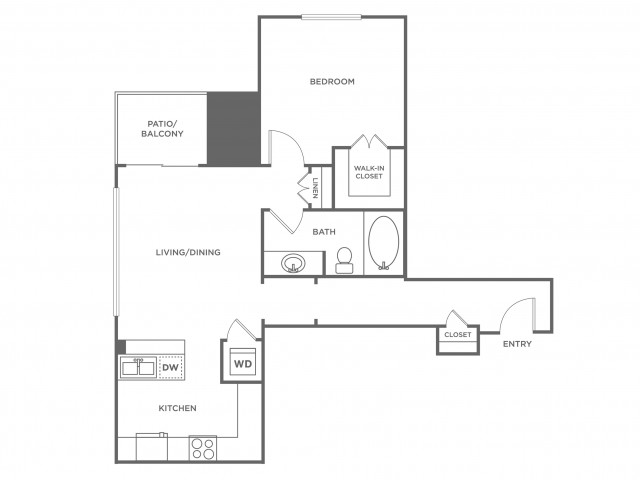 Aspen | 1 bed 1 bath | from 851 square feet