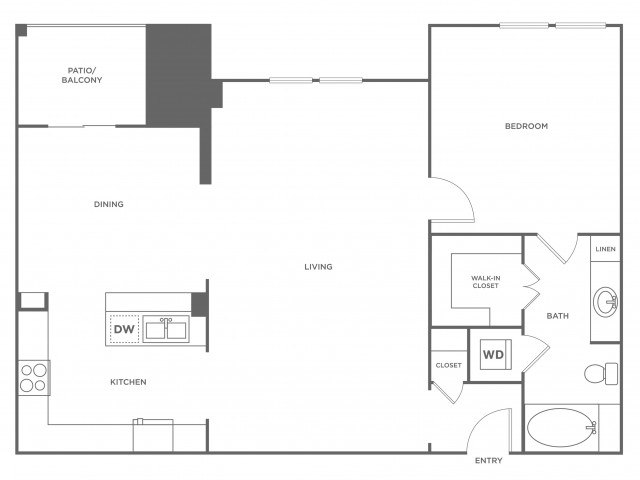 Evans | 1 bed 1 bath | from 1060 square feet