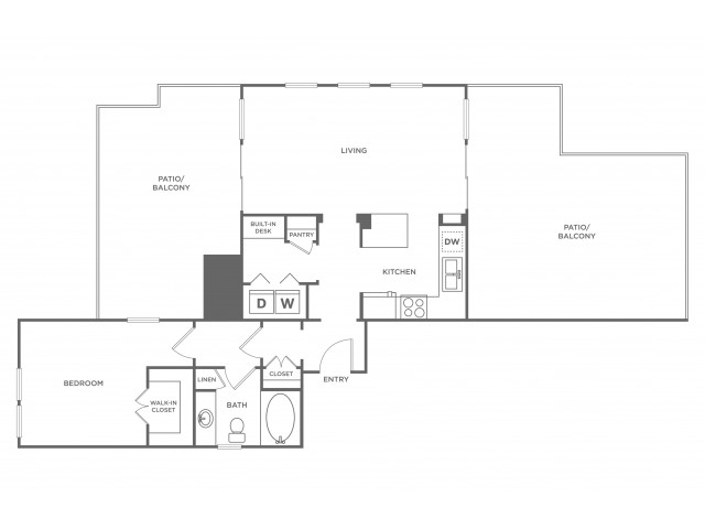Glenwood | 1 bed 1 bath | from 1579 square feet