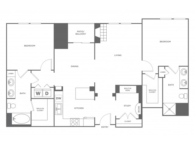 Pueblo | 2 bed 2 bath | from 1329 square feet