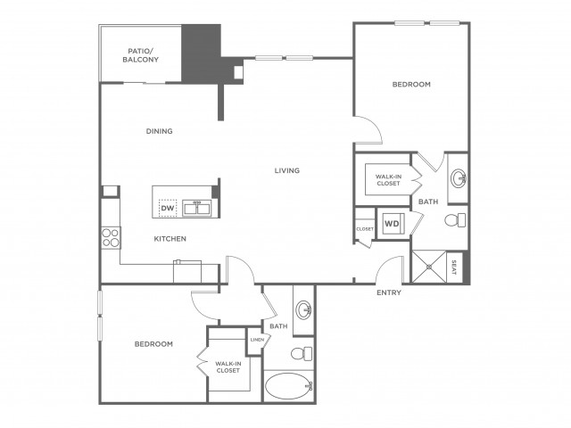 Redstone | 2 bed 2 bath | from 1378 square feet