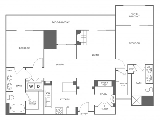 Steamboat | 2 bed 2 bath | from 1549 square feet