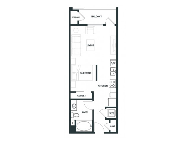 S2 | Studio1 bath | from 539 square feet
