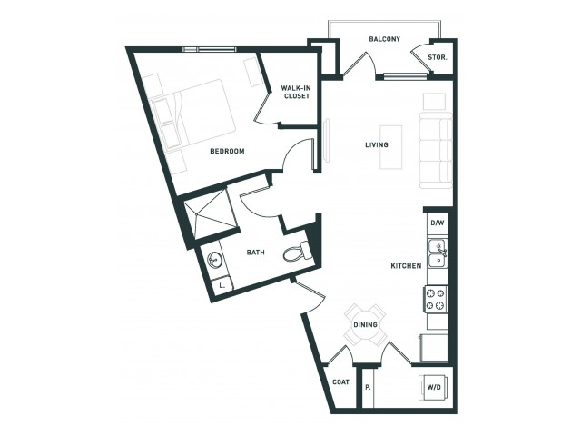 A5 | 1 bed 1 bath | from 726 square feet