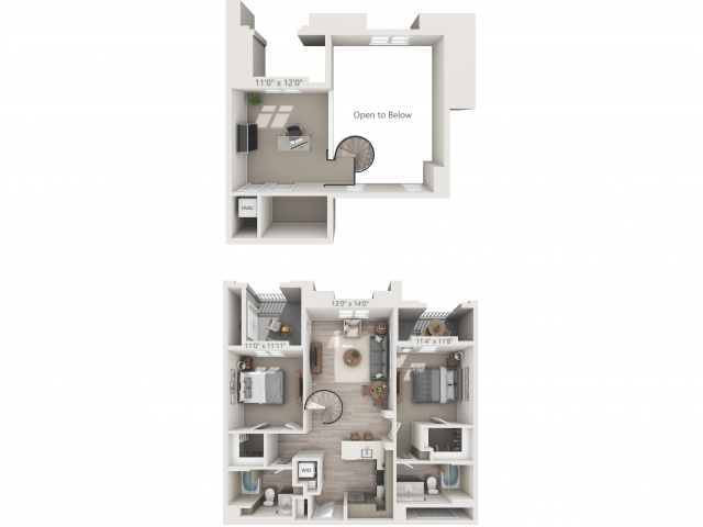 B2M   2 bed 2 bath   from 1158 square feet