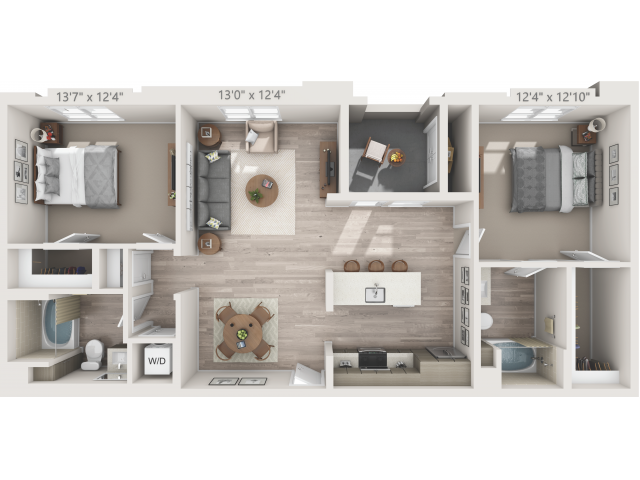 B4   2 bed 2 bath   from 1174 square feet