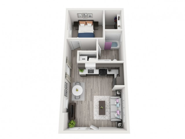C4 | 1 bed 1 bath | from 670 square feet