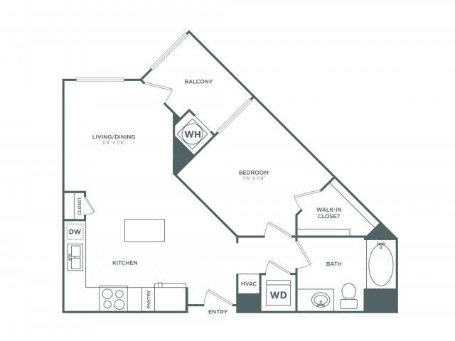 The Surfside | 1 bed 1 bath | from 695 square feet