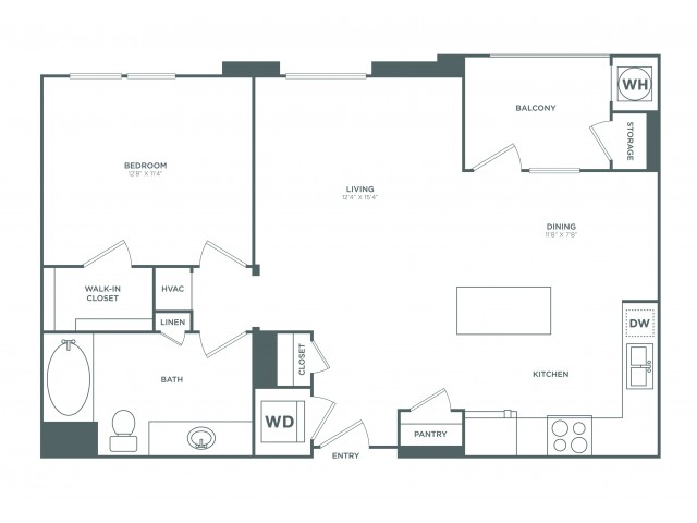 The Huntington | 1 bed 1 bath | from 841 square feet