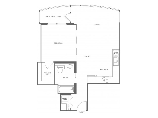 Plan 8 | 1 bed 1 bath | from 609 square feet