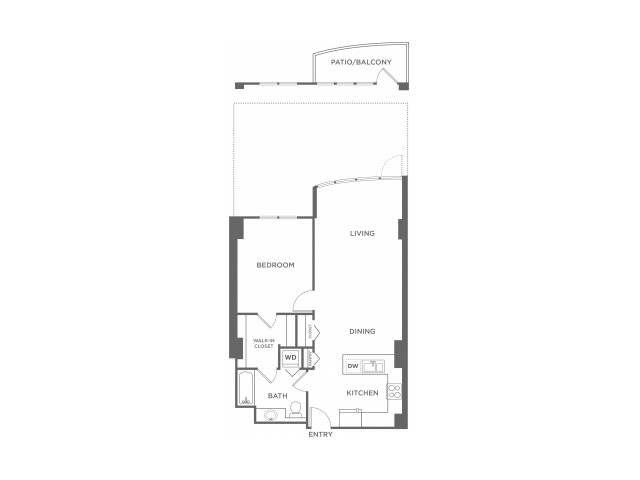 Plan 5 | 1 bed 1 bath | from 704 square feet
