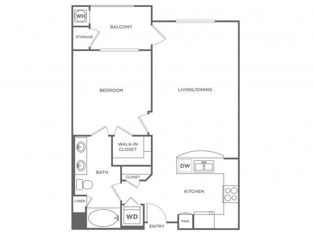 Curacao | 1 bed 1 bath | from 786 square feet