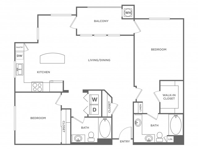 Fiji | 2 bed 2 bath | from 1214 square feet