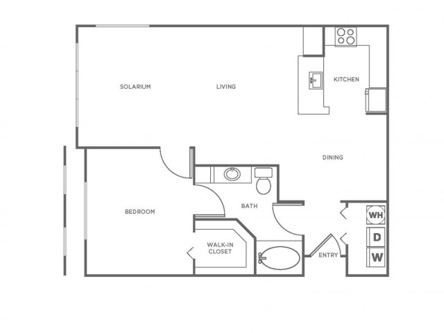 A3 | 1 bed 1 bath | from 943 square feet
