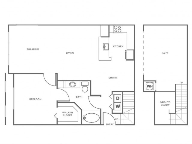 A4 | 1 bed 1 bath | from 1173 square feet