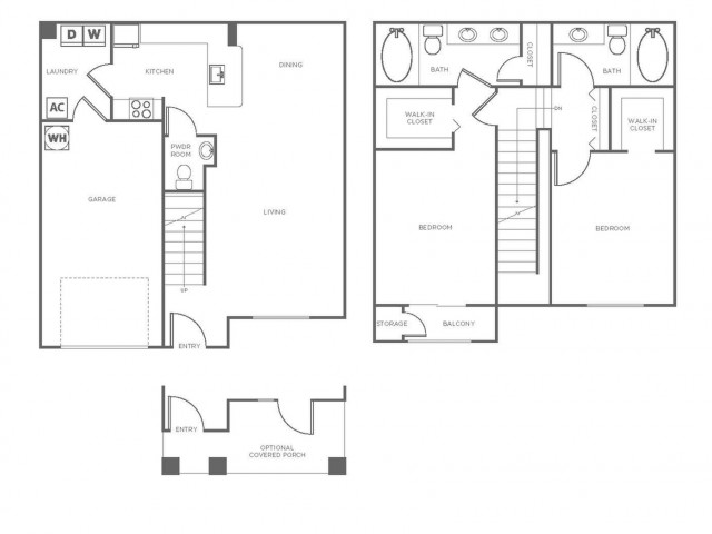 B1 | 2 bed 3 bath | from 1328 square feet