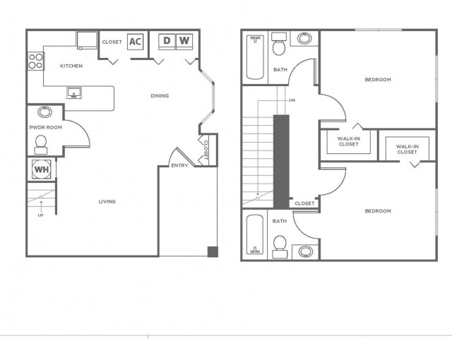 B2 | 2 bed 3 bath | from 1096 square feet