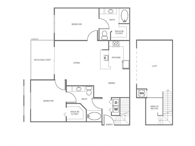 B4 | 2 bed 2 bath | from 1337 square feet