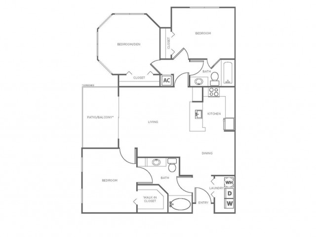 C3 | 3 bed 2 bath | from 1261 square feet
