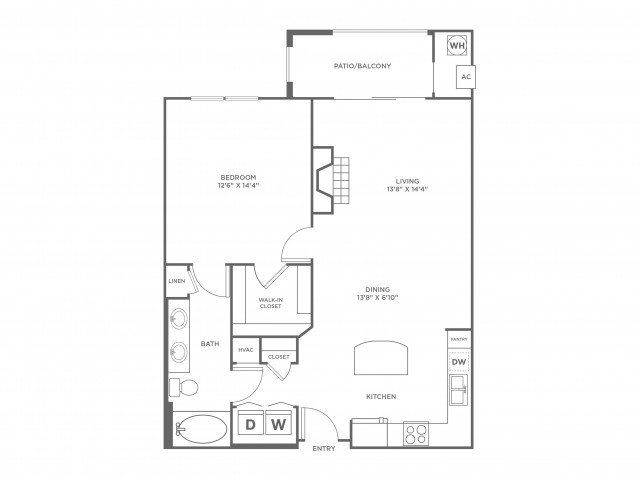 Serenity | 1 bed 1 bath | from 834 square feet