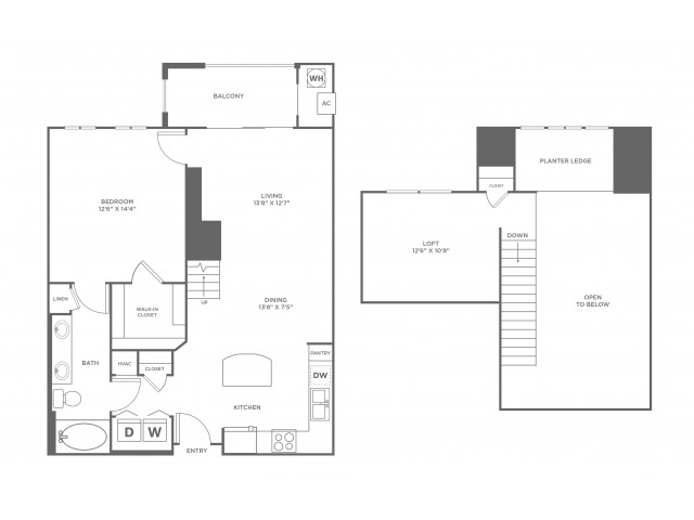 Serendipity Loft | 1 bed 1 bath | from 1147 square feet