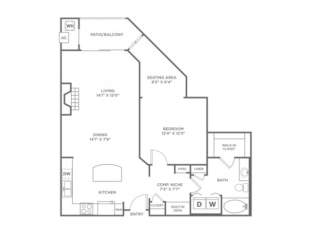 Simplicity | 1 bed 1 bath | from 936 square feet