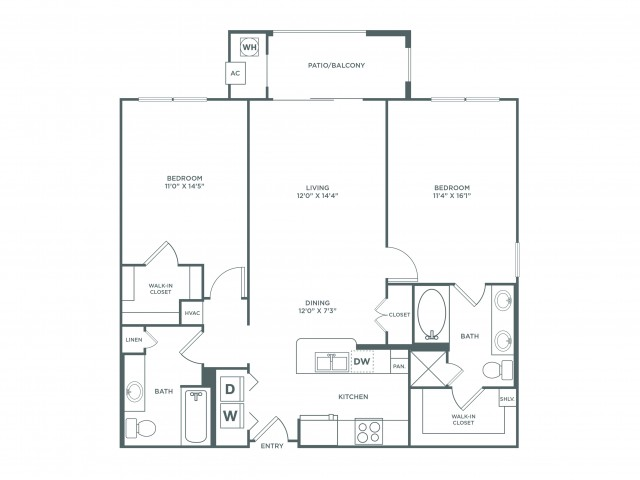 Suitability | 2 bed 2 bath | from 1112 square feet