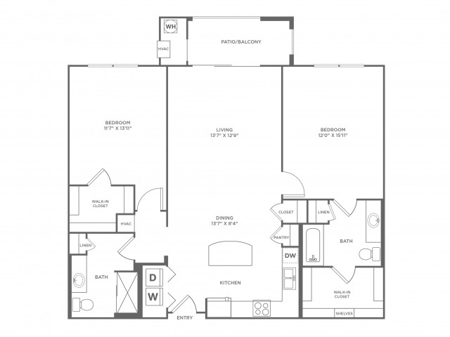Passivity | 2 bed 2 bath | from 1184 square feet