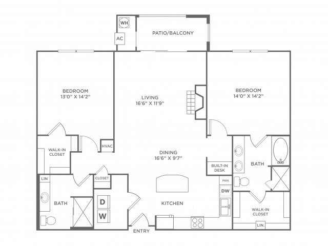 Tranquility | 2 bed 2 bath | from 1343 square feet
