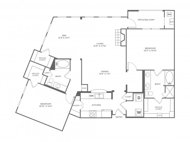 Creativity | 2 bed 2 bath | from 1647 square feet