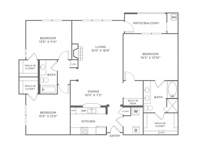 Veracity | 3 bed 2 bath | from 1527 square feet