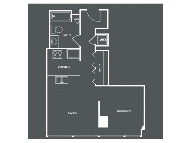 S4-R   Studio1 bath   from 567 square feet