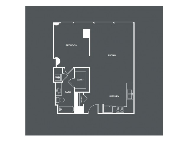 A1   1 bed 1 bath   from 873 square feet