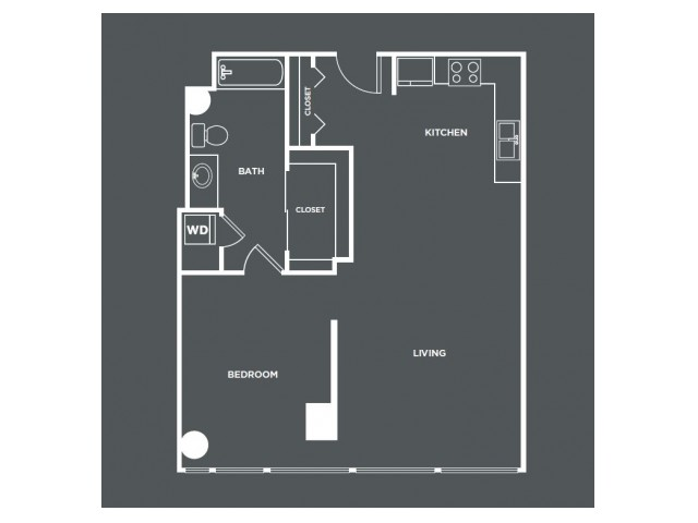A10-R   1 bed 1 bath   from 735 square feet