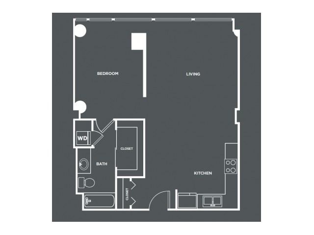 A11   1 bed 1 bath   from 799 square feet
