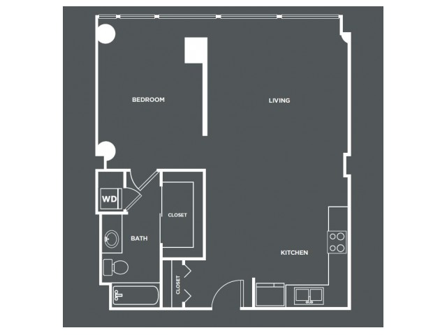 A11-R   1 bed 1 bath   from 799 square feet