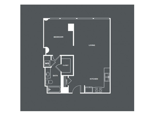 A13-R   1 bed 1 bath   from 794 square feet