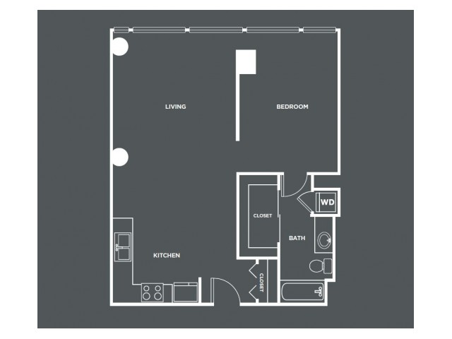 A14-R   1 bed 1 bath   from 819 square feet
