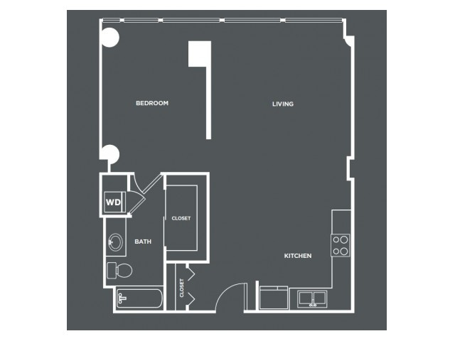 A15-R   1 bed 1 bath   from 851 square feet