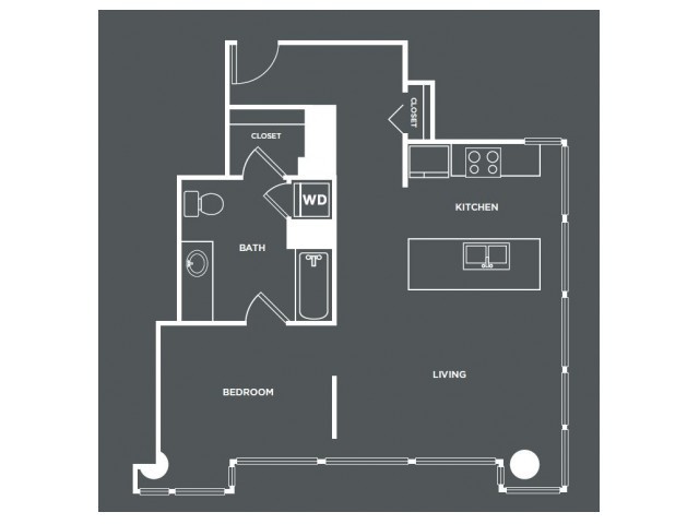 A16   1 bed 1 bath   from 777 square feet