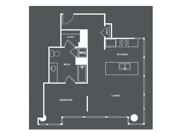 A16-R   1 bed 1 bath   from 777 square feet