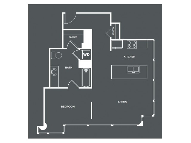 A17   1 bed 1 bath   from 766 square feet