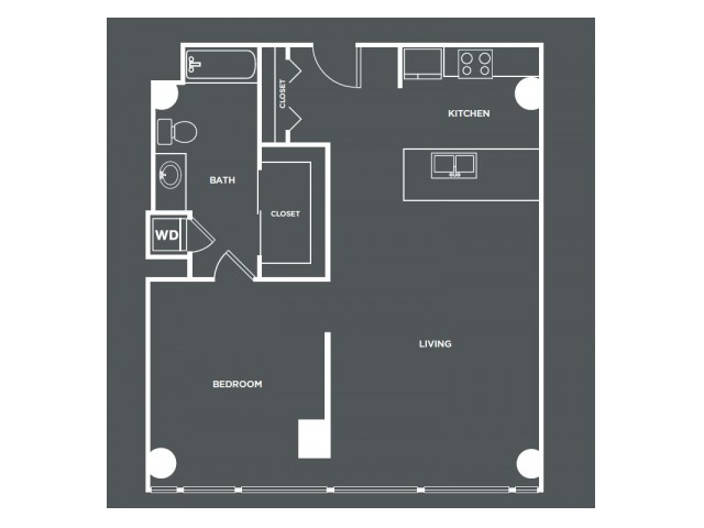 A18   1 bed 1 bath   from 847 square feet