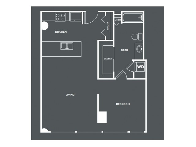 A19   1 bed 1 bath   from 778 square feet