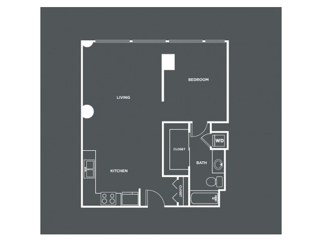 A2   1 bed 1 bath   from 757 square feet